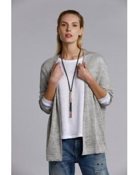 Brick Tie Necklace- Dark Grey W Rose Gold