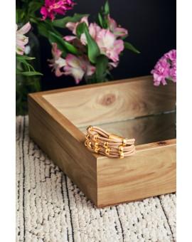 Stone and Gold Wrap Around Bracelet