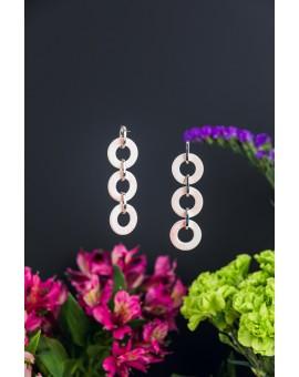 Three Circles Shell Earrings