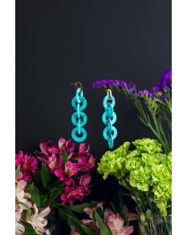 Six Circles Turquoise Earrings