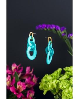Looped Circular Turquoise Earrings