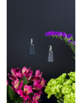 Black Tower Earrings