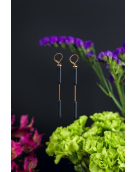 Double Cylinder Earrings