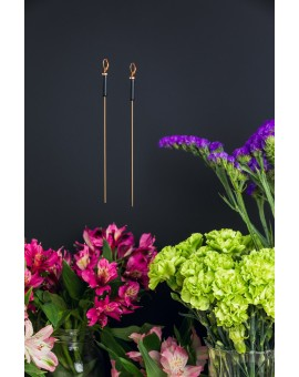 Long Single Cylinder Earrings
