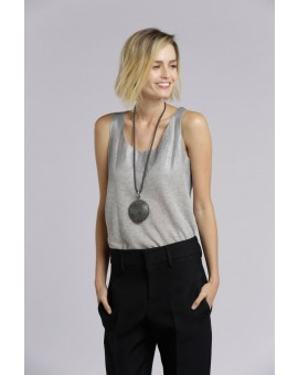 Round Resin Necklace - Grey