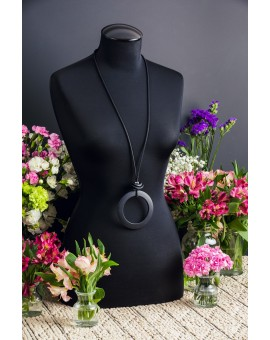 Black Pendant Necklace