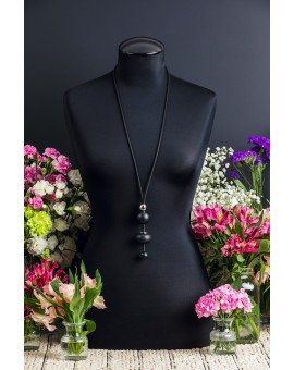 Black and Silver Tie Necklace