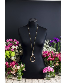 Rose Gold Amorphic Egg Necklace