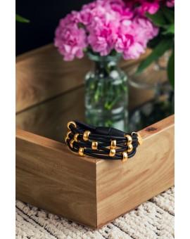 Black and Gold Wrap Around Bracelet