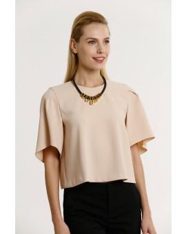Crown Necklace- Black W Gold