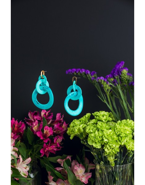 Looped Turquoise Earrings