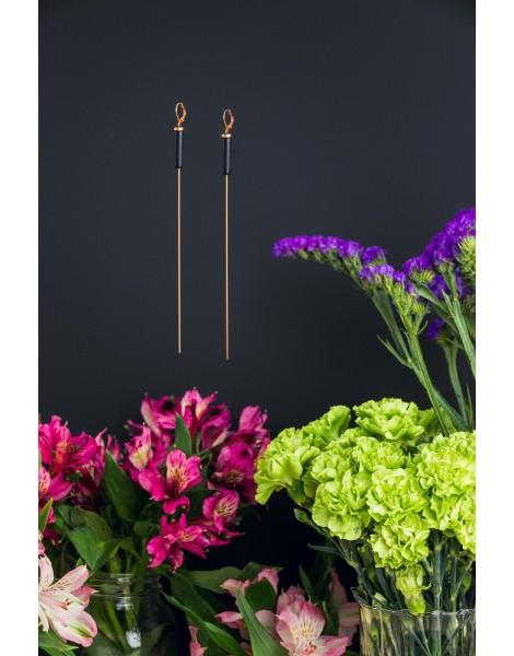 Long Single Cylinder Earrings